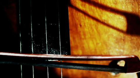 Musician and Double Bass 31 extreme closeup stylized... Stock Video Footage