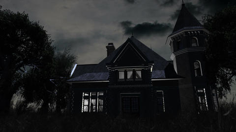 Scary House 01 Stock Video Footage