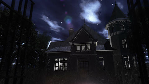 Scary House 03 Stock Video Footage