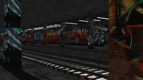 Subway 02 stylized light environment Stock Video Footage