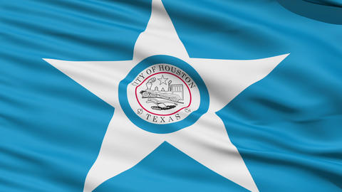 American State City Flag of Houston Texas Stock Video Footage