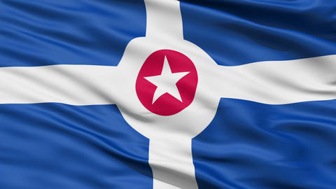 American State City Flag of Indianapolis Stock Video Footage