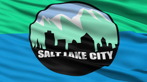 American State City Flag of Salt Lake City Stock Video Footage
