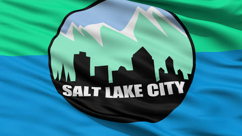American State City Flag of Salt Lake City Animation