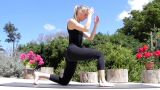 Fitness - Women Exercise Healthy Peaceful Yoga Lifestyle Beach stock footage
