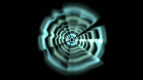 Time Tunnel,blue rotation laser trails in 3D space,Pipeline,black-hole,particle,pattern,symbol,visio Animation