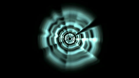 Time Tunnel,blue rotation laser trails in 3D... Stock Video Footage