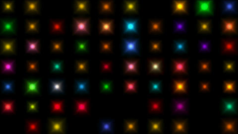 Color square matrix, disco... Stock Video Footage