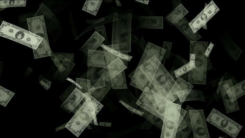 Money animation,Created with hundreds,tens and one dollar... Stock Video Footage