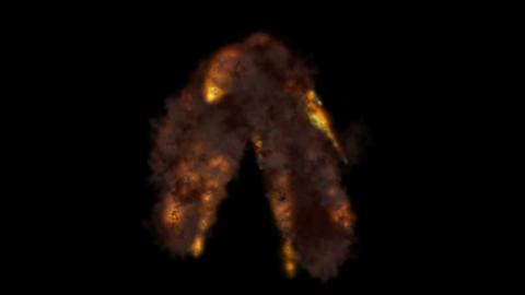 Explosion,volcanic,melting,lighter,magma,disaster,destruc... Stock Video Footage