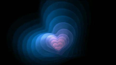 Blue and pink fractal heart,good for valentine's... Stock Video Footage