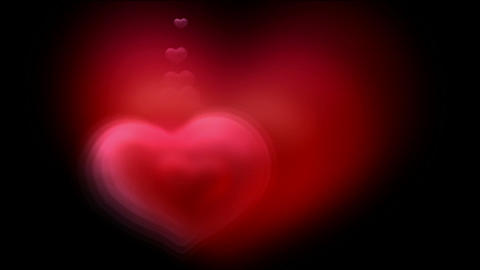 red fractal heart,good for valentine's... Stock Video Footage
