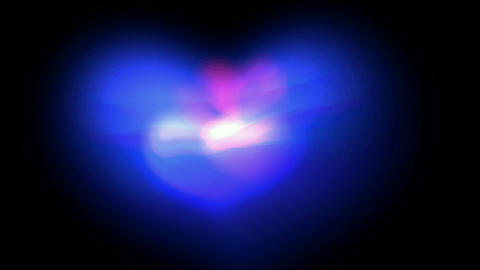 blue fancy heart,Good for valentine's... Stock Video Footage