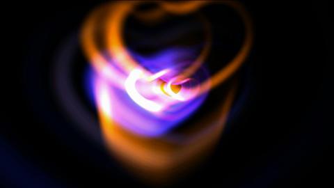 fancy heart.Led,neon... Stock Video Footage