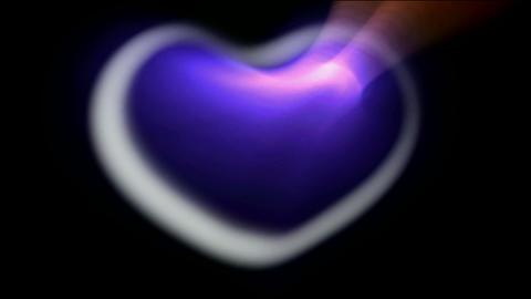 3d blue hear,heart... Stock Video Footage