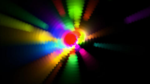 color circle light,neon ray.aura,beauty,blue,bright,energy,flash Animation