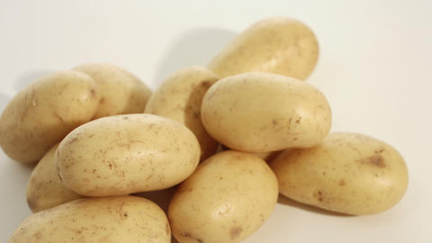 Potatoes raw food background Live Action
