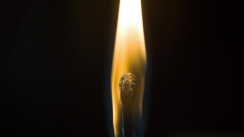Burning fire match Footage