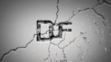 Wall Cracked Logo Reveal stock footage
