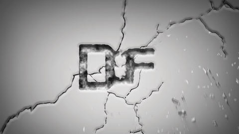 Wall cracked logo reveal After Effects Template