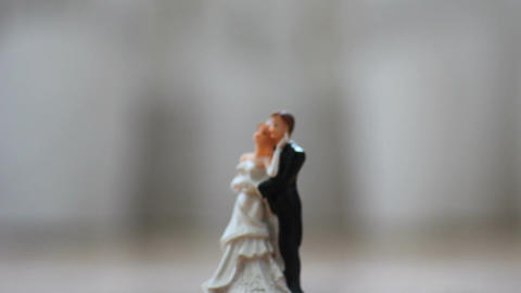 Statuette newlyweds Footage