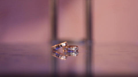 a wedding rings Footage