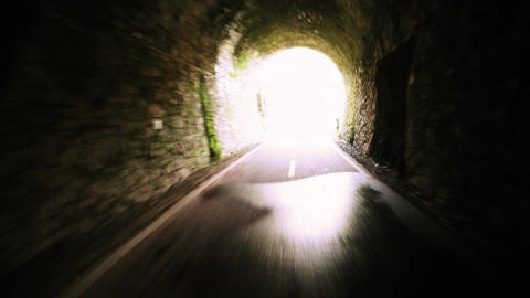 Point of view shot of riding a bicycle Footage