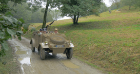 German Military Vehicle Mountain 02 stock footage