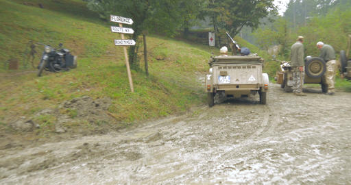 german military vehicle mountain 03 Footage