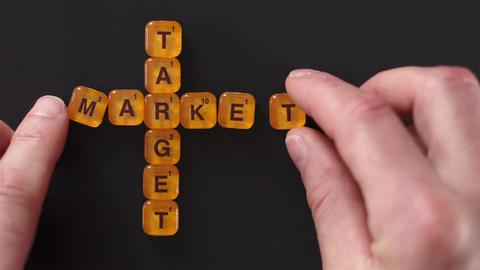 Letter Blocks Target Market Words Live Action