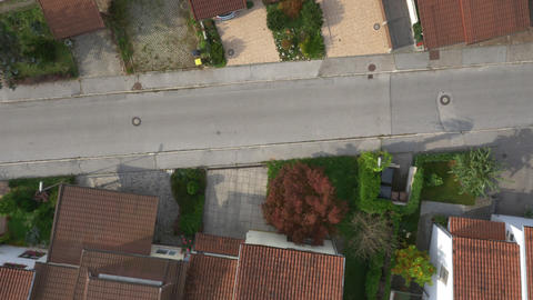 AERIAL: Row houses in suburban town Footage