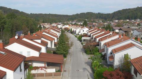 AERIAL: Row houses in suburban neighborhood Footage