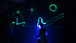 Neon Drawing Light Show Footage