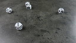 Dice Cast On Concrete stock footage