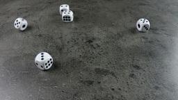 dice cast on concrete Footage