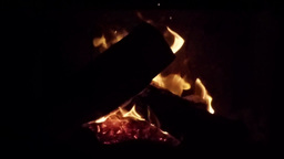 Wood Burning On A Fireplace stock footage