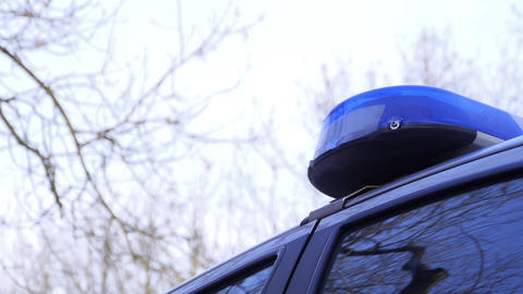 Blue police light signal Footage