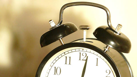 Vintage alarm clock ringing - slow motion Footage