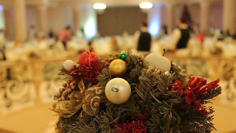 Christmas And New Year Party (decorations) stock footage