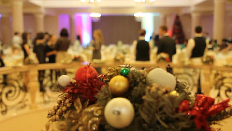 Christmas And New Year Party stock footage