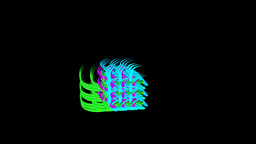 Mass of living 3D Strokes Animation