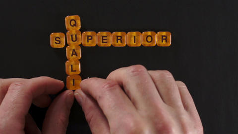 Letter Blocks Spelling Superior Quality Footage