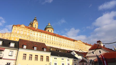 Clouds move over the monastery of Melk Live Action