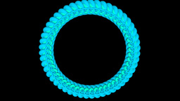 Ring of living 3D Strokes Animation