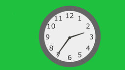 Cartoon Clock Running Fast: Looping + Matte stock footage