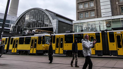 Timelapse of the Alexanderplatz in Berlin Live Action