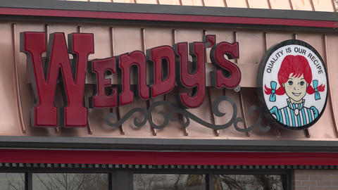 Wendy's Hamburgers Restaurant stock footage