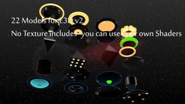22 Saucer Ufo Models For Element 3D V2 stock footage