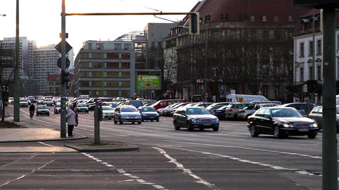 Traffic in Berlin Footage