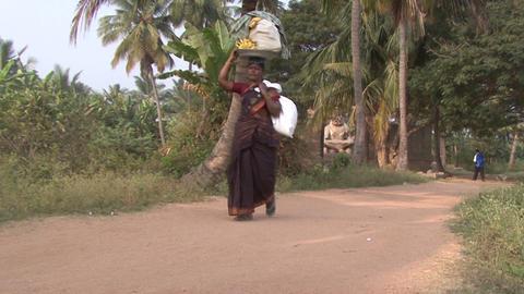 India Karnataka Hampi. Woman Footage